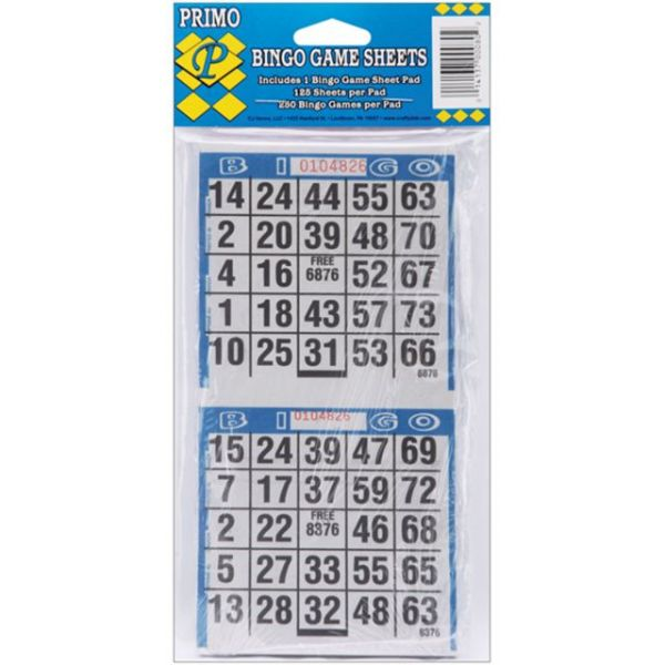 "Bingo Game Sheets 4""X8"" 125/Pkg"