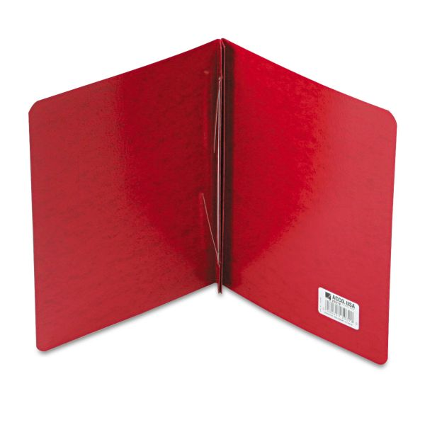 """ACCO Presstex Report Cover, Side Bound, Prong Clip, Letter, 3"""" Cap, Executive Red"""