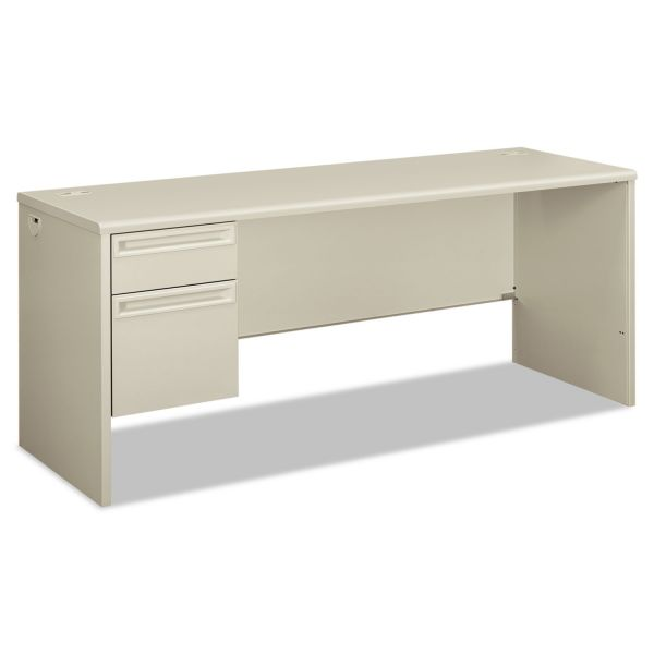 HON 38000 Series Left Pedestal Credenza, 72w x 24d x 29-1/2h, Light Gray