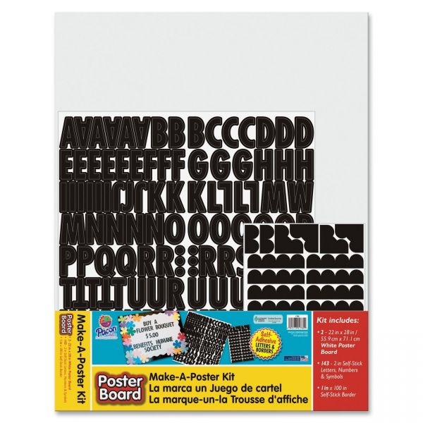 Pacon Poster Board Make-a-Poster Kit