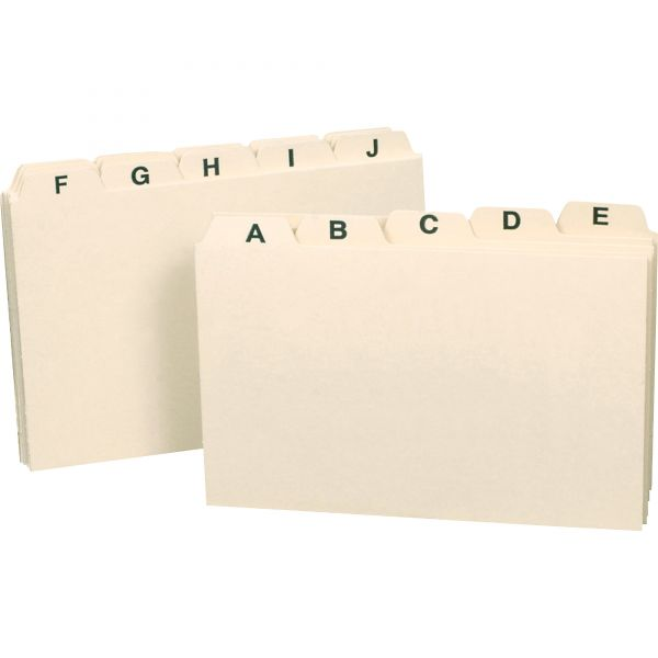 Smead Alphabetic Index Card Guides