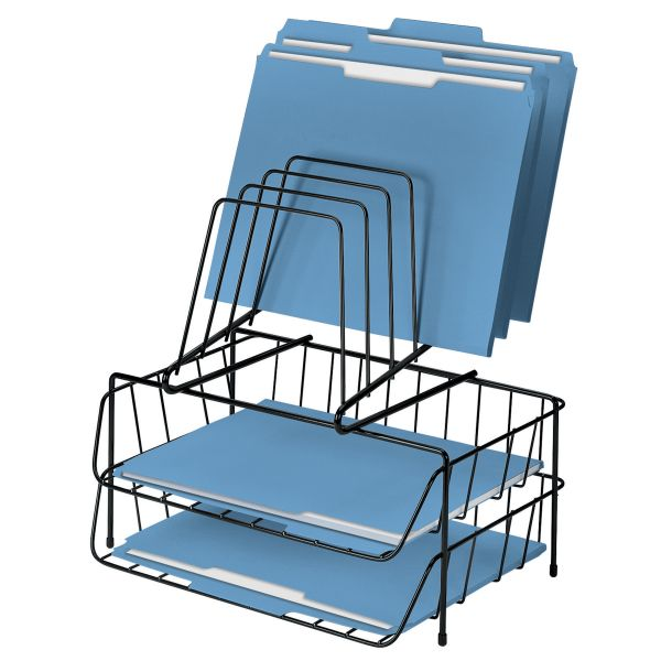 Fellowes Wire Double Tray with Step File