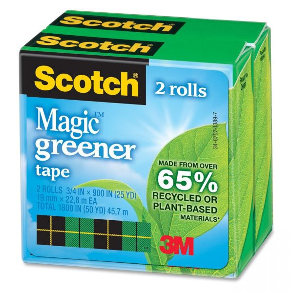 "Scotch 3/4"" Magic Greener Invisible Tape Refills"