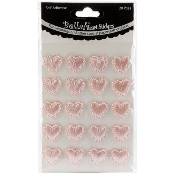 Bella! Wedding Self-Adhesive Hearts 20/Pkg
