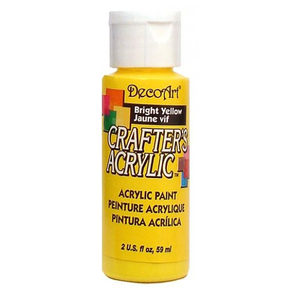 Deco Art Bright Yellow Crafter's Acrylic Paint