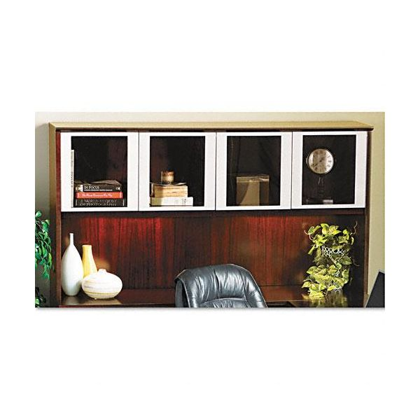 Tiffany Industries Corsica Hutch with Glass Doors, 72w x 15d x 39h, Sierra Cherry