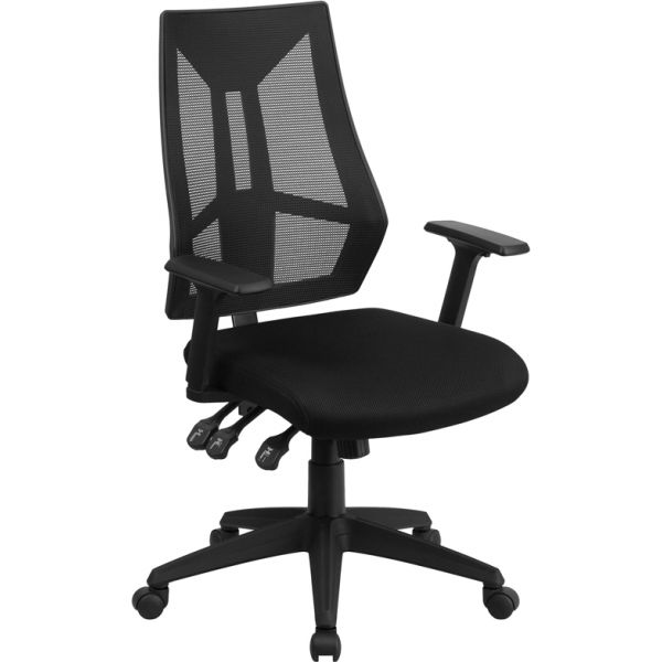 Flash Furniture High Back Mesh Swivel Task Chair with Triple Paddle Control