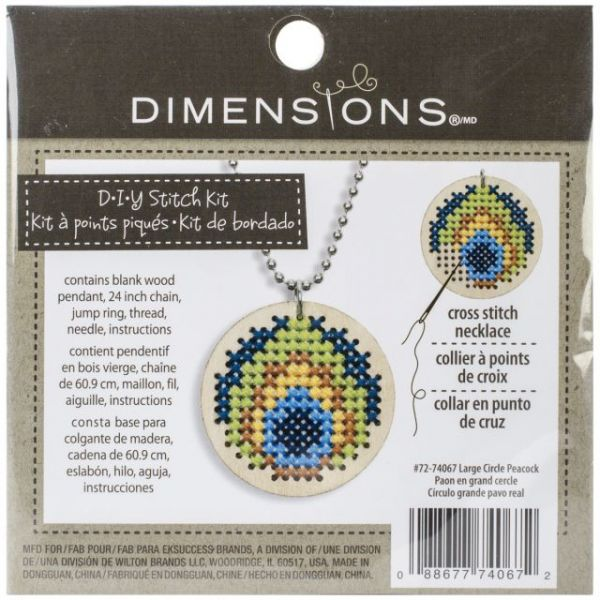 Large Wooden Jewelry Counted Cross Stitch Kit