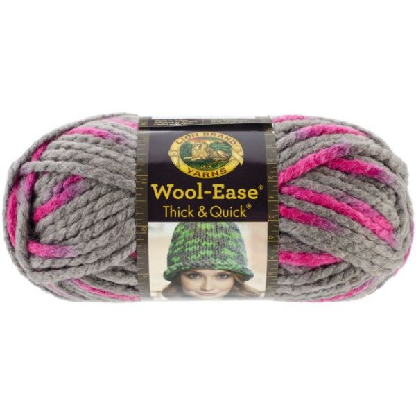 Lion Brand Wool-Ease Thick & Quick Yarn - Flamingo