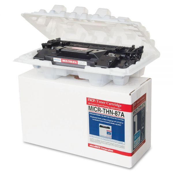 Micromicr Remanufactured HP 87A MICR Toner Cartridge