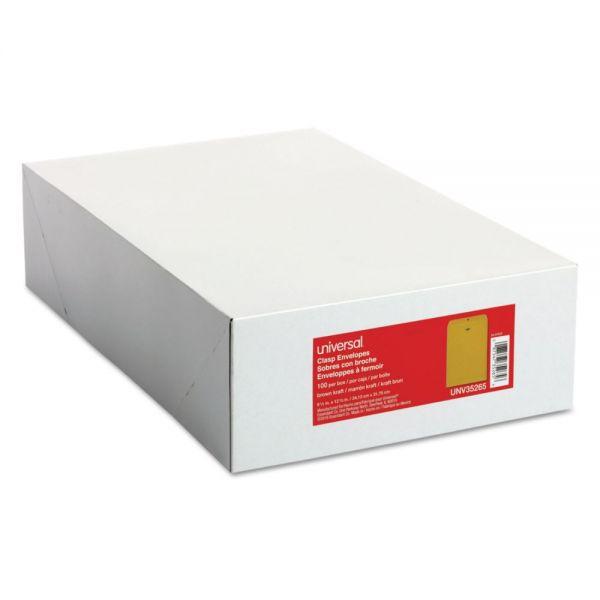 "Universal Gummed 9 1/2"" x 12 1/2"" Clasp Envelopes"