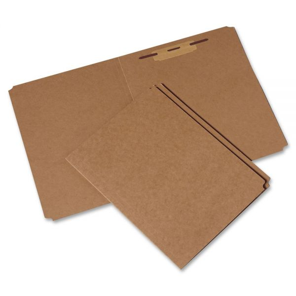 SKILCRAFT Heavy-Duty Kraft File Folders With Fasteners