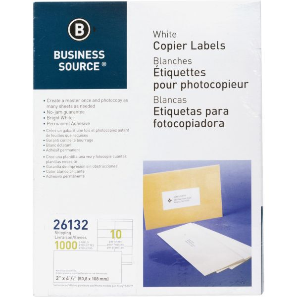 Business Source Copier Shipping Labels