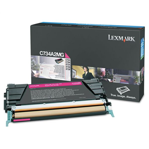 Lexmark C734A2MG Magenta Toner Cartridge