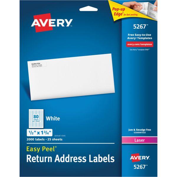 Avery 5267 Easy Peel Return Address Labels