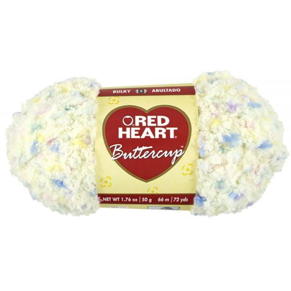 Red Heart Buttercup Yarn - Light Yellow Multi