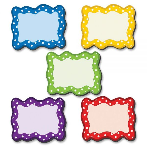 Teacher Created Resources Polka Dots Blank Magnetic Cards