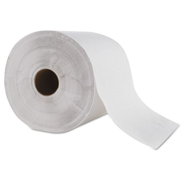 "GEN Hardwound Roll Towel, 1-Ply, White, 8"" x 700 ft, 6 Roll/Carton"