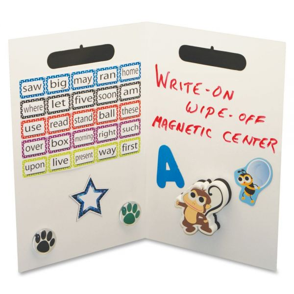 Ashley Magnetic Center Folding Dry Erase Board