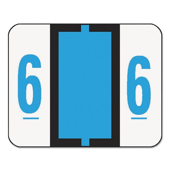 Smead 67376 Blue BCCRN Bar-Style Color-Coded Numeric Label - 6