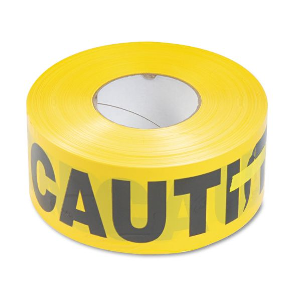 Tatco Caution Barricade Safety Tape, Yellow, 3w x 1000ft Roll