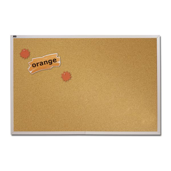 ACCO Aluminum Frame Natural Cork Board