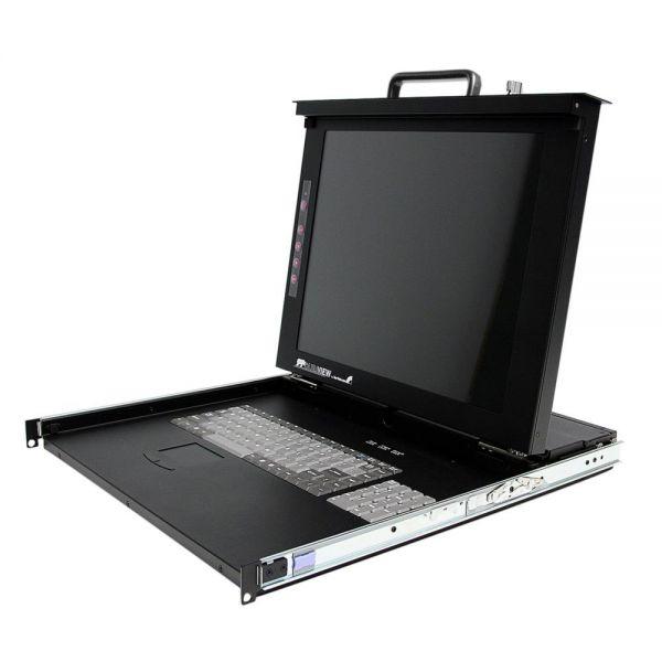 StarTech.com 1U 17 Rackmount LCD Console with 8 Port Multi-Platform KVM