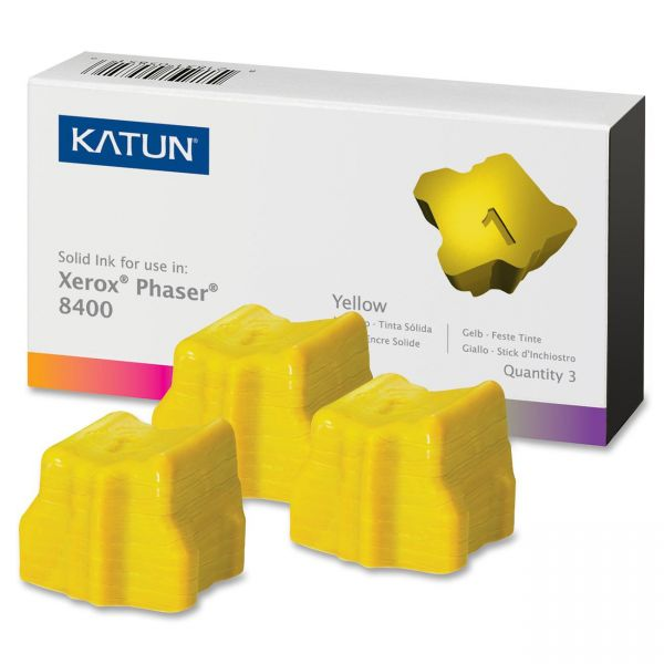 Katun 38706 Compatible 108R00607 Solid Ink Stick, Yellow, 3/BX