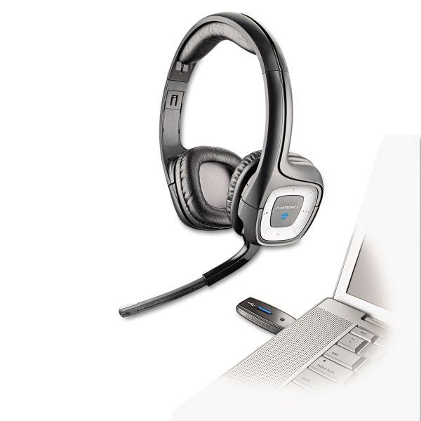 Plantronics Audio 995 USB Wireless Stereo Headset w/Noise Canceling Mic
