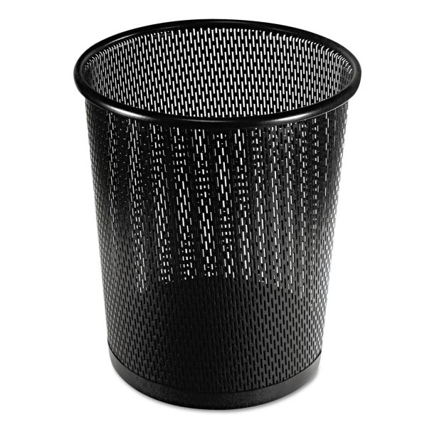 Artistic Urban Collection Punched Metal Trash Can