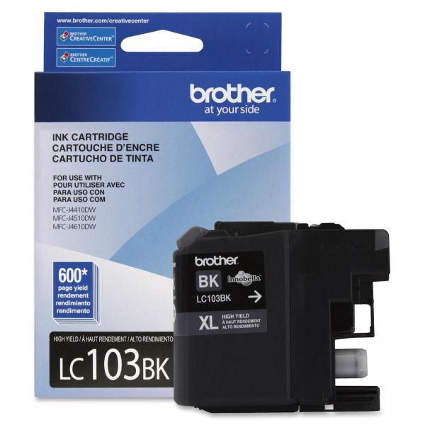 Brother LC103BK Black High Yield Ink Cartridge