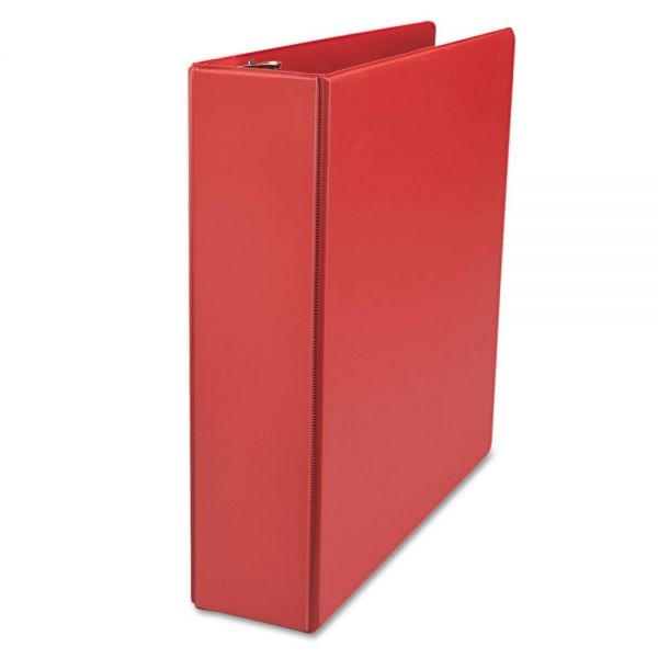 "Universal D-Ring Binder, 2"" Capacity, 8-1/2 x 11, Red"