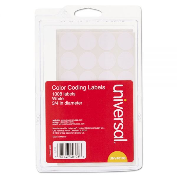 Universal Permanent Color Coding Labels