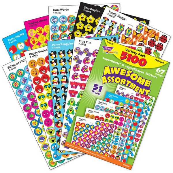 Trend Awesome Assortment SuperSpots Stickers Variety Pack