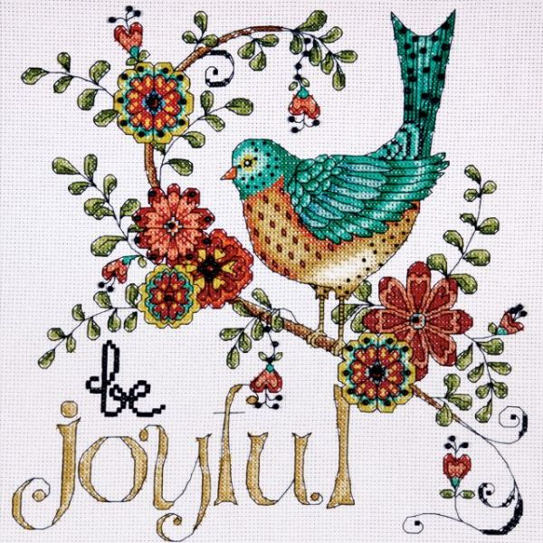 Heartfelt Be Joyful Counted Cross Stitch Kit