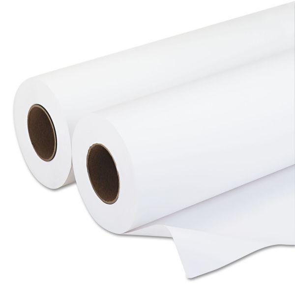 """PM Company Amerigo Wide-Format Paper, 20 lbs., 3"""" Core, 18""""x500 ft, White, 2/Carton"""