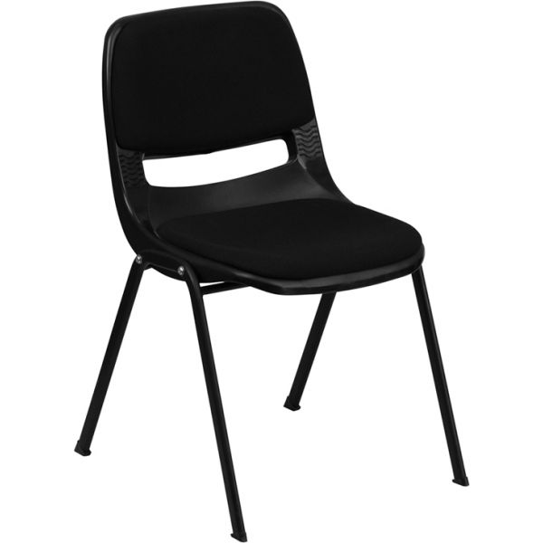 Flash Furniture HERCULES Series Ergonomic Plastic Stacking Chair with Padded Seat and Back