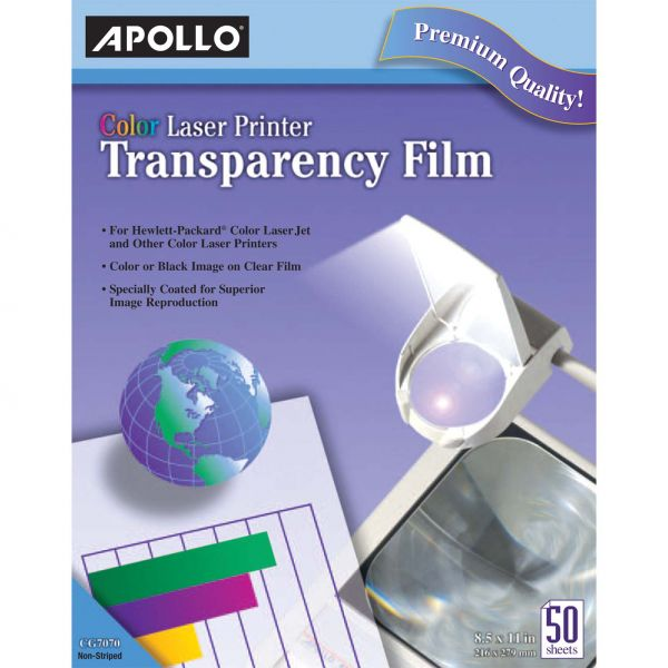 Apollo Color Laser Printer Transparency Film