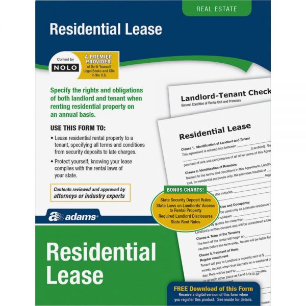 Adams Residential Lease Form Set