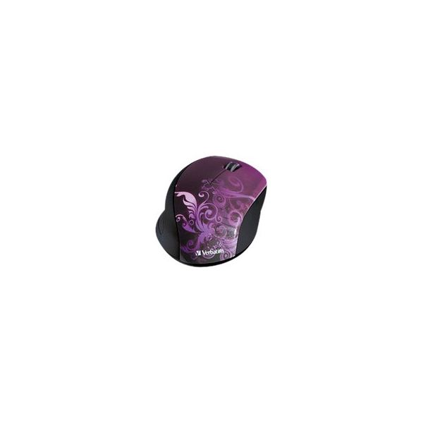 Verbatim Wireless Notebook Optical Mouse, Design Series - Purple