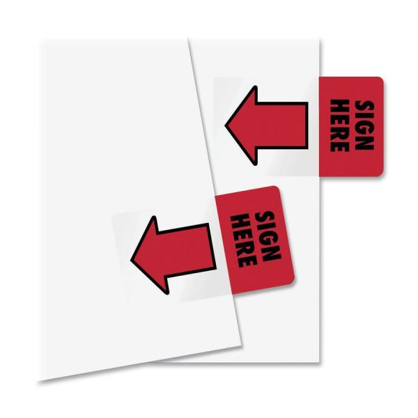 "Redi-Tag 1"" Arrow ""Sign Here"" Flags"