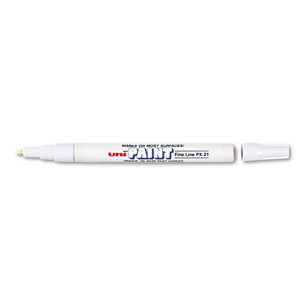 Sanford uni-Paint uni-Paint Marker, Fine Point, White