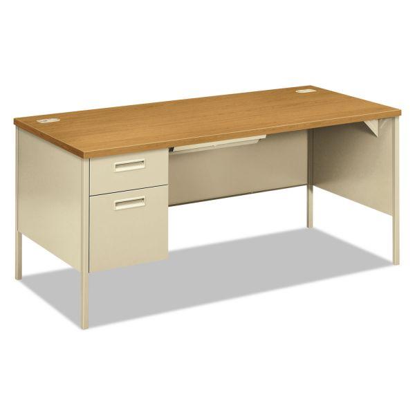 "HON Metro Classic Left Pedestal Desk | 1 Box / 1 File Drawer | 66""W"