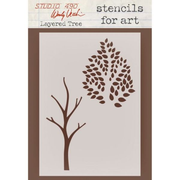 "Wendy Vecchi Studio Stencil Collection 6.5""X4.5"""
