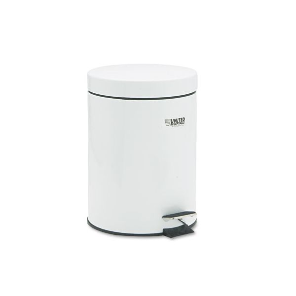Rubbermaid The Defenders Round 1.5 Gallon Step Trash Can With Lid