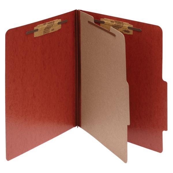 Acco Red 1-Divider Presstex Classification Folders