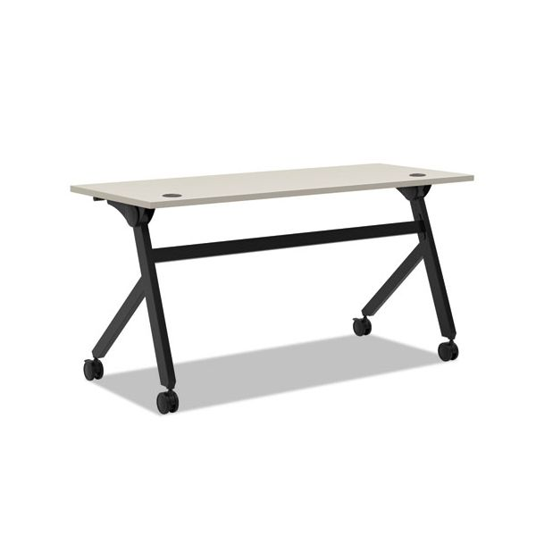 HON Multipurpose Table Flip Base Table, 60w x 24d x 29 3/8h, Light Gray