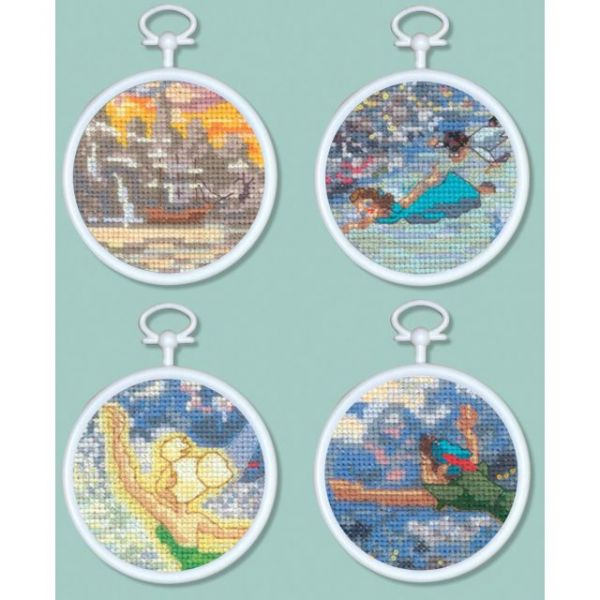Peter Pan Mini Vignettes Counted Cross Stitch Kit