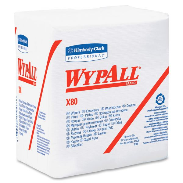 WYPALL X80 Quarterfold Hydroknit Wipers