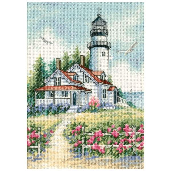 Dimensions Gold Petite Scenic Lighthouse Counted Cross Stitch Kit